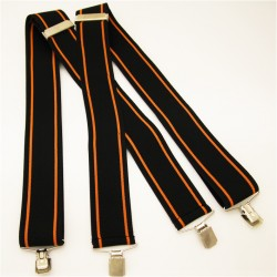 Černo oranžové kšandy super široké Assante 90129