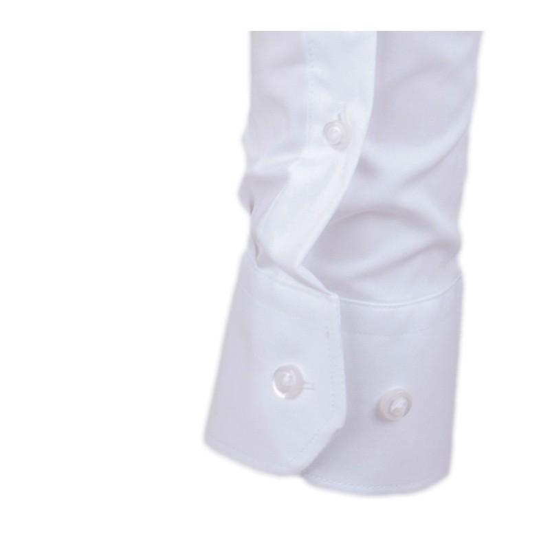 a8920144a21 ... Pánská košile extra prodloužená bílá rovný střih Assante 20021 ...