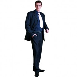 Modrý pánský oblek zkrácený na výšku 170 - 176 cm fa Vorite 160636