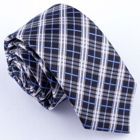Slim fit černá kravata Greg 99102