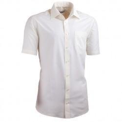 Šampaň pánská košile s krátkým rukávem slim fit Aramgad 40233