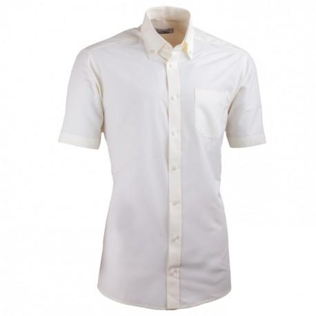 Šampaň pánská košile s krátkým rukávem slim fit Aramgad 40235