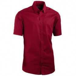 Červená pánská košile s krátkým rukávem slim fit Aramgad 40334