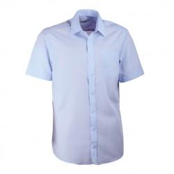 Modrá pánská košile s krátkým rukávem rovná Aramgad 40433