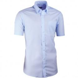 Modrá pánská košile s krátkým rukávem slim fit Aramgad 40434
