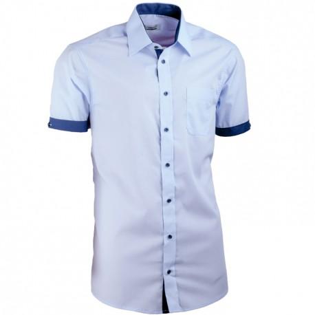 Košile modrá Aramgad kombinovaná vypasovaná 40338