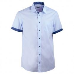 Modrá pánská košile s krátkým rukávem rovná Aramgad 40439