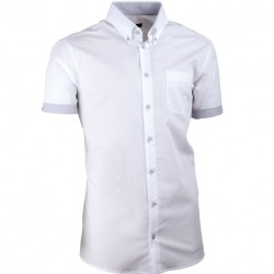 Bílá pánská košile slim fit 100 % bavlna Assante 40008