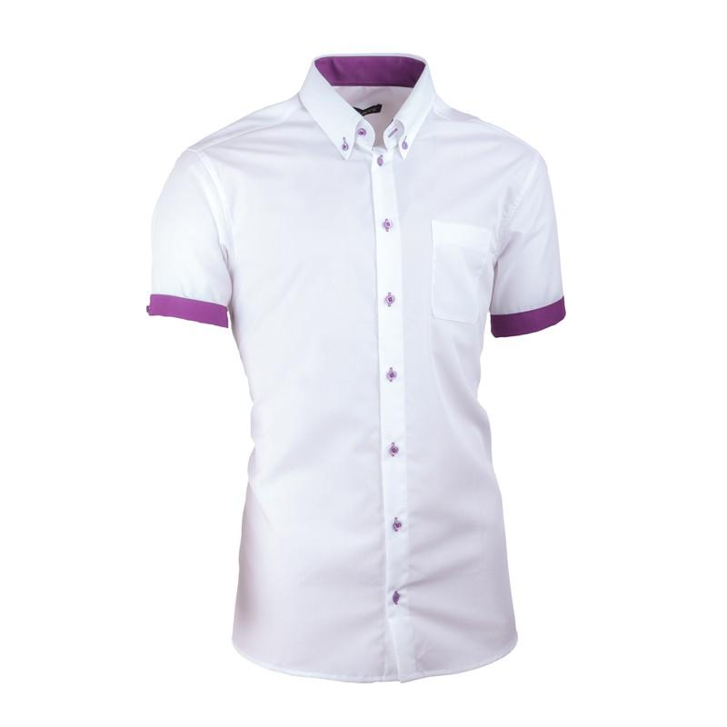d57e16e694c Bílá pánská košile slim fit 100 % bavlna non iron Assante 40010 ...