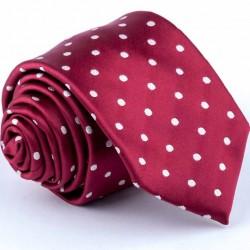 Puntíkovaná červená kravata Greg 93176