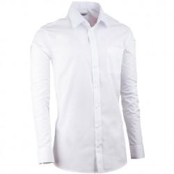 Bílá pánská košile s dlouhým rukávem slim fit Aramgad 30080