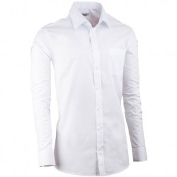 Bílá pánská košile s dlouhým rukávem regular fit Aramgad 30081