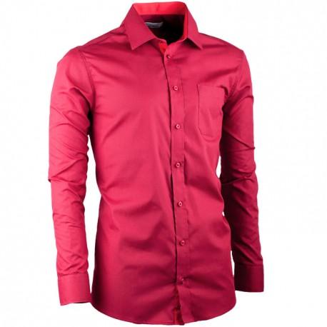 Vínová pánská košile s dlouhým rukávem rovná Aramgad 30381