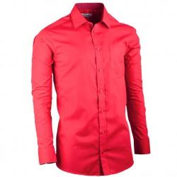 Červená pánská košile slim dlouhý rukáv Aramgad 30382