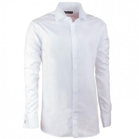 Košile na manžetový knoflíček regular bílá Assante 30043