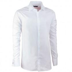 Nadměrná košile na manžetový knoflíček bílá Assante 31002