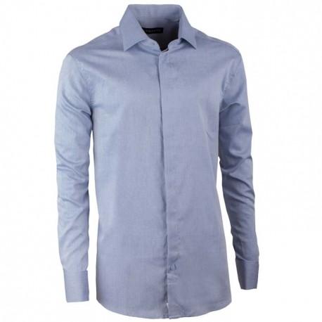 Košile na manžetový knoflíček regular šedomodrá Assante 30138