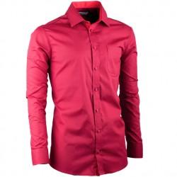 Prodloužená košile slim fit bordó Aramgad 20307