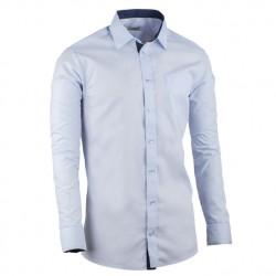 Prodloužená košile slim fit modrá Aramgad 20506
