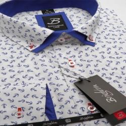 Bílomodra marine pánská košile s dvojitým límcem Brighton 119966