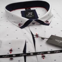 Bílá pánská košile dlouhý rukáv s dvojitým límcem Brighton 109968