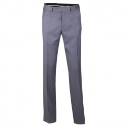 Prodloužené pánské společenské kalhoty šedé Assante 60512