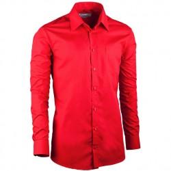 Červená pánská košile slim fit s dlouhým rukávem Aramgad 30384