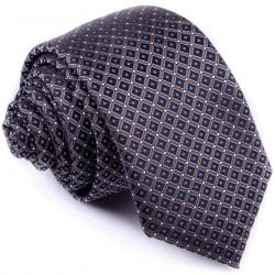 Černošedá slim fit kravata Greg 91195