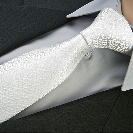 Svatební kravata bílá Greg 91207