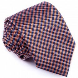 Kravata modrooranžová vzorek Greg 94264