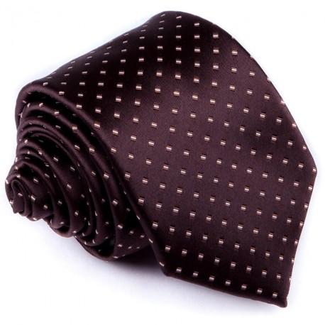 Hnědá elegantní kravata Greg 92890