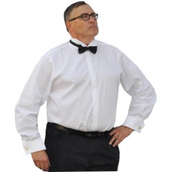 Nadměrná košile fraková bílá manžetový knoflík Assante 31003