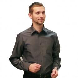 Šedá pánská košile 100 % bavlna slim fit Assante 30103