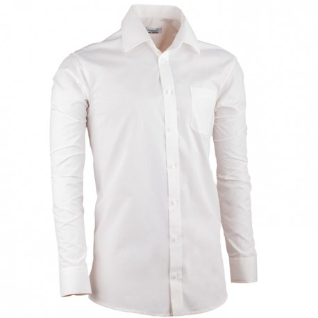 Smetanová pánská košile s dlouhým rukávem slim fit Aramgad 30280