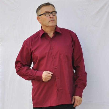 Červená pánská košile s dlouhým rukávem rovná Friends and Rebels 30306