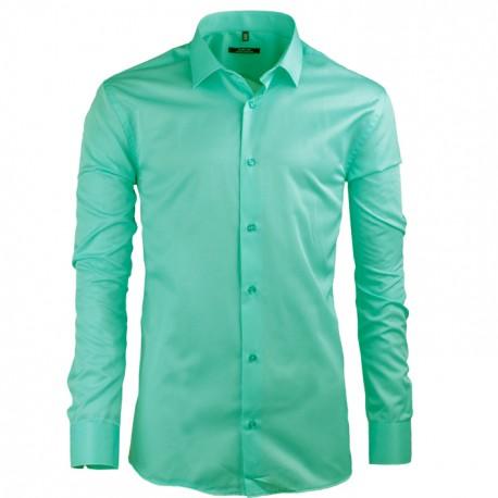 Pistáciová pánská košile s dlouhým rukávem slim Native 30502