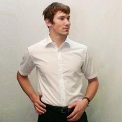 Bílá pánská košile s krátkým rukávem rovná Friends and Rebels 40001 8806f93ae2