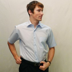 Modrá pánská košile krátký rukáv Friends and Rebels 40401