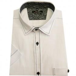 Pánská košile s krátkým rukávem bílá 100% bavlna Native 40702