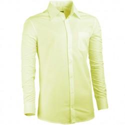 Prodloužená košile žlutá regular fit Assante 20102