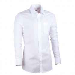 Prodloužená košile slim pánská bílá Assante 20003