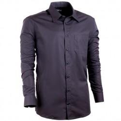 Černá nadměrná pánská košile non iron rovná Assante 31025