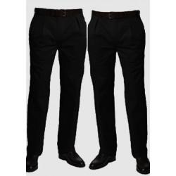 Černé prodloužené pánské kalhoty společenské Falkom 160102