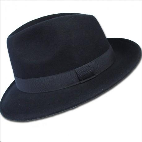 Černý pánský klobouk Assante 85006