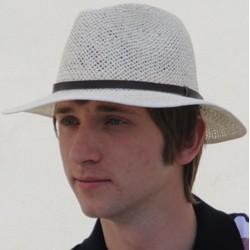 Béžový pánský letní klobouk ekry Assante 80003