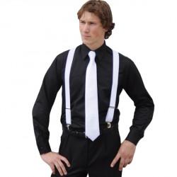 8854a210deb Prodloužená pánská košile černá regular fit Friends and Rebels 20102
