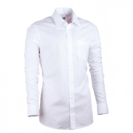 Pánská košile prodloužená bílá slim Assante 20005
