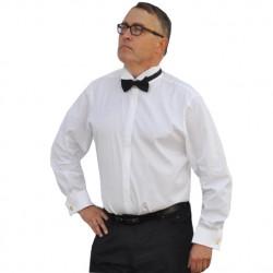 Prodloužená košile fraková slim bílá Aramgad 20006