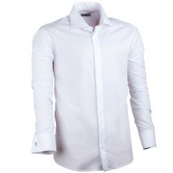 Prodloužená košile na mažetový knoflík bílá regular Assante 20008