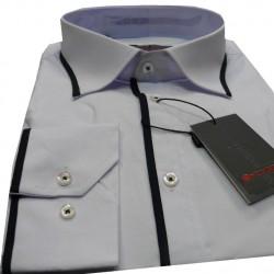 Bílá pánská košile s dlouhým rukávem slim fit Anonimos 30035 14c1e99def